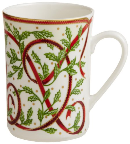 "Pickard""Winter Festival"" Fine China 10-Ounce Mug, Set of 4"