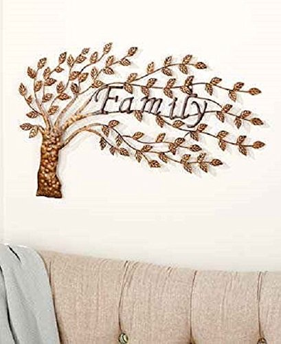 Amazoncom Family Tree Wall Art Sculpture Metal Traditional Home