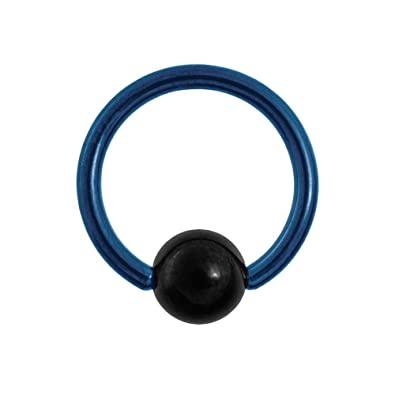 Blue Banana Body Piercing BCR Titanio Coloreado 1.6mm (Azul): Amazon.es: Joyería