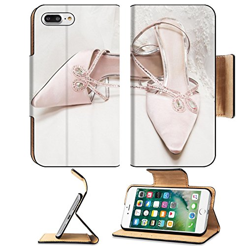 Luxlady Premium Apple iPhone 7 Plus Flip Pu Leather Wallet Case iPhone7 Plus 2958185 Colored wedding shoes on a white (Fancy Dress Pairs Ideas)