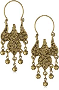 Antiquities Couture Islamic Wire Hoop Dangle Earrings
