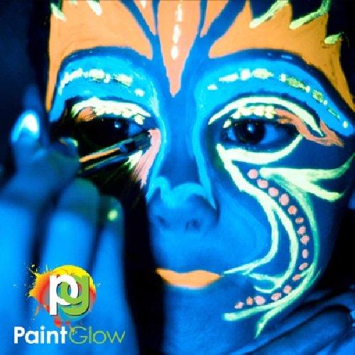 PaintGlow Neon UV Face   Body Paint Rave Festival Party 10ml Set of 6 best e297e2ae9e
