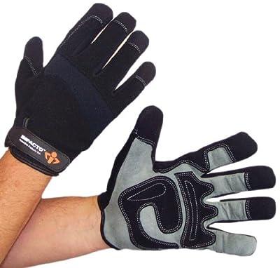 Impacto WG40820 Mechanic's Work Glove, Black/Grey