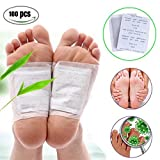 Fencia 100 Foot Patches Natural Detox Foot Pads Patch Detoxify Toxins Pain Relief Foot Care Relax Health Care Remove Body Toxins Weight Loss Stress Relief