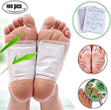 Fencia 100 Foot Patches Natural Detox Foot Pads Patch Detoxify Toxins Pain Relief Foot Care Relax Health Care Remove Body Toxins Weight Loss Stress Relief Amazon Ca Beauty