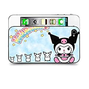 Case88 Designs My Melody & Kuromi Collection 0647 Protective Snap-on Hard Back Case Cover for Apple Iphone 4 4s by icecream design