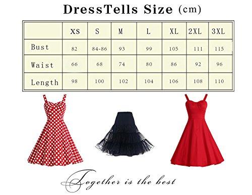 Dresstells® Shoulder Straps 1950s Retro Audrey Swing Pinup Rockabilly Dress Pleated Skirt BlueFlower