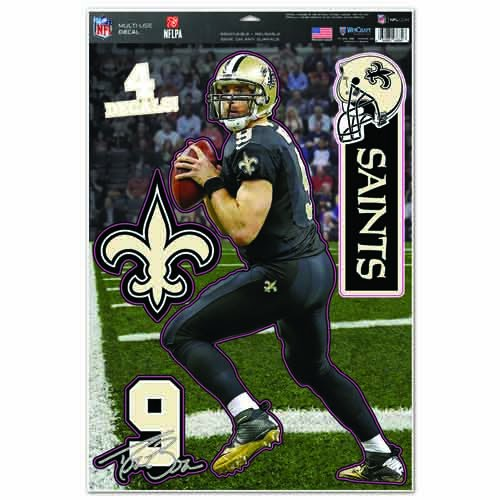 NFL New Orleans Saints WCR75105014 Multi-Use Decal, 11