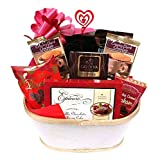 Valentine's Day Gift Basket with Chocolate Cookies and Cake for Men and Women by Gifts Fulfilled