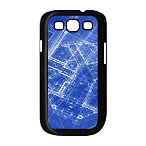 Samsung Galaxy S 3 Case 3D, Blue Perspective Case for Samsung Galaxy S 3 black lms317561846