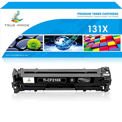 True Image Compatible Toner Cartridge Replacement for HP 131A CF210A Toner HP 131X CF210X HP Laserjet Pro 200 Color M251nw MFP M276nw Toner HP M251n M251 M276n M276 Canon MF8280Cw Printer Ink Black
