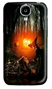 Samsung Galaxy I9500 Case and Cover -Halloween Witch Polycarbonate Hard Case Back Cover for Samsung Galaxy S4/I9500 3D
