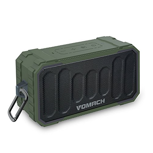 Vomach Bluetooth Speakers - IPX6 Water-Resistant, Drop-Resistant, Dust-Resistant, Bluetooth 4.2 Portable Outdoor Wireless Speaker with Deep Bass Stereo Sound for Party, Travel, Beach, Pool by Vomach