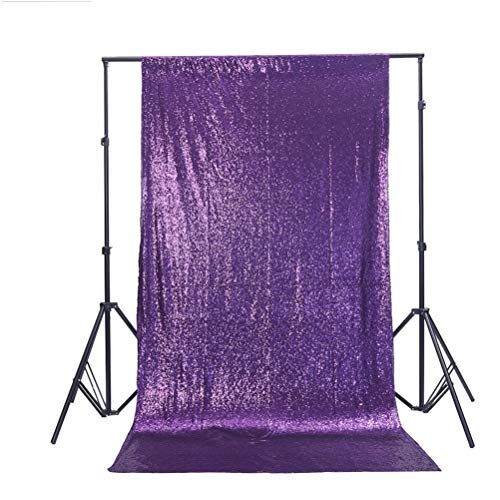 TRLYC 6Ft6Ft Purple Wedding Sequin Backdrop ()