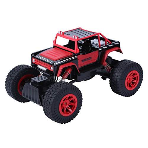DEERC ラジコンカー RCカー ラジコンバギー 4WD 乗り越え抜群 子供おもちゃ 2.4GHz 1/14 四輪駆動 1169A レッド