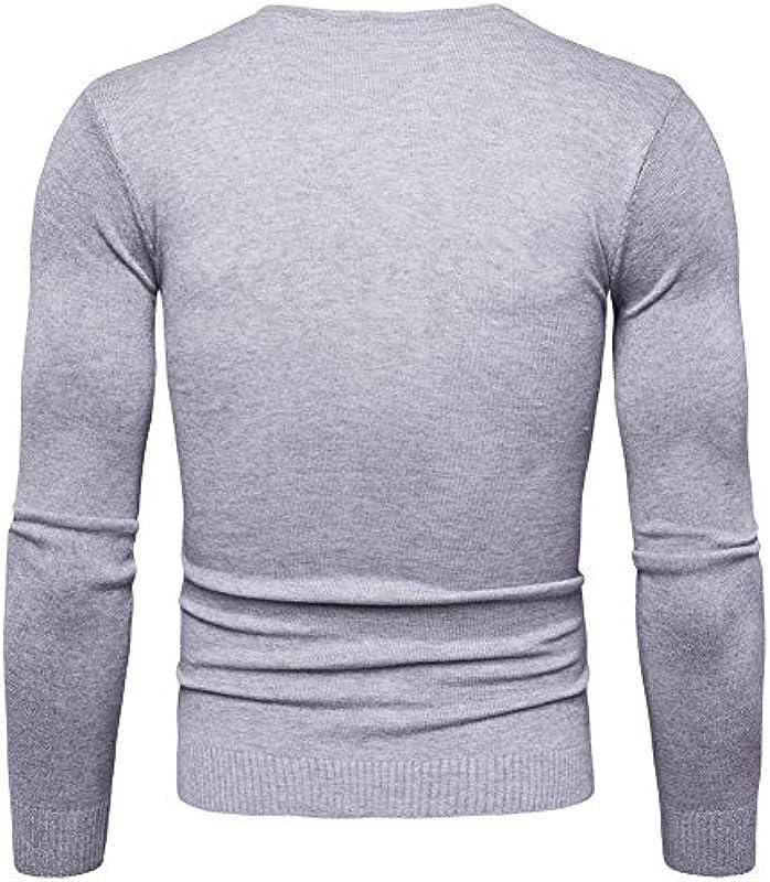 Męski sweter drobno tkany Slim jednokolorowy długi rękaw Fit dekolt V moda męska bluza wiosna jesień gÓrne części topy: Odzież