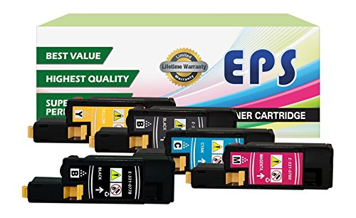 5k Pages Magenta Toner - 5PK EPS Replacement High Yield Toner Set for DELL E525W (2 BLACK, 1 CYAN, 1 YELLOW, 1 MAGENTA)