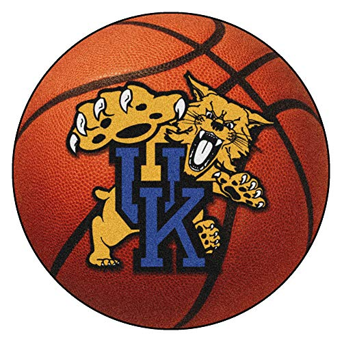 (FANMATS NCAA University of Kentucky Wildcats Nylon Face Basketball Rug)