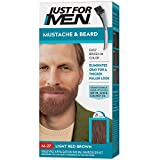 Just for Men Just for Men Mustache and Beard, Beard Coloring for Gray Hair With Brush Included - Color: Light Red Brown, M-27 (Color: Light Red Brown, Tamaño: Pack of 1)