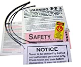 ROHN ACWS Anti Climb Warning Sign Kit