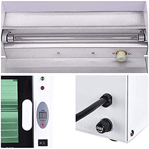 ZeHuoGe Electric UV Tool Towel Sterilizer Cabinet Adjustable Timer Removable Double Racks 8L For Spa Salon Massage Commercial Family US Delivery by ZeHuoGe (Image #7)