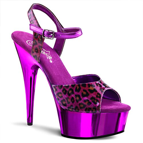 Heels-Perfect - Sandalias de vestir de material sintético para mujer Violeta - Violett (Lila)