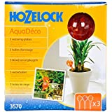 Hozelock AquaDeco Watering Globes x 3(Assorted color)