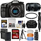 Sony Alpha A68 Digital SLR Camera Body Tamron 70-300mm Lens + 64GB Card + Battery & Charger + Case + Tripod + Filter + Kit