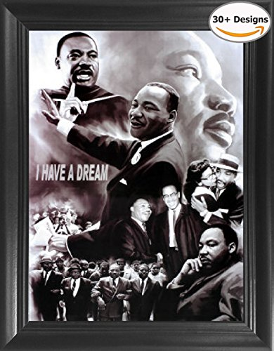 Martin Luther King Jr. I Have a Dream Framed 3D Lenticular Picture - 14.5x18.5