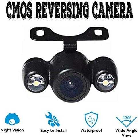 普遍的な2LEDs車のリアビューカメラ駐車支援バックアップCCDカエルの目カメラ170視野角