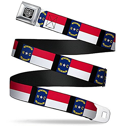 Buckle-Down Seatbelt Belt - North Carolina Flag/Black - 1.0