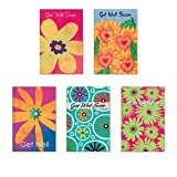 10 Get Well Cards with Envelopes - Boxed Enclosure