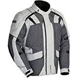 Tour Master Transition Series 4 Men's Textile Sports Bike Racing Motorcycle Jacket - Light Grey/Gun Metal / 2X-Large