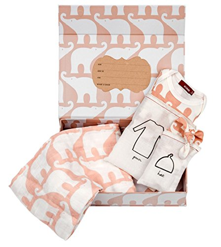 Milkbarn Newborn Keepsake Set - Rose Elephant ()