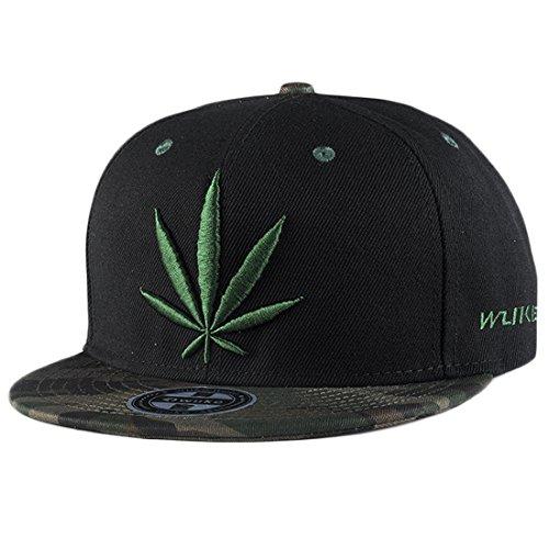 ChezAbbey Solid Flat Brim Hip Hop Adjustable Hat Stylish Snapback Baseball Cap by ChezAbbey