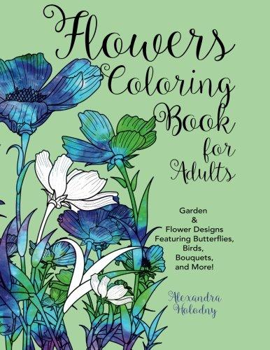 Cheap  Flowers Coloring Book for Adults: Garden & Flower Designs Featuring Butterflies, Birds,..