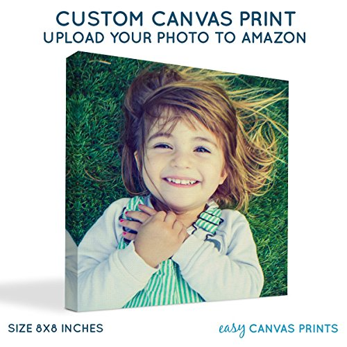 Your Photo on Custom Personalized Canvas Prints (8x8) 0.75
