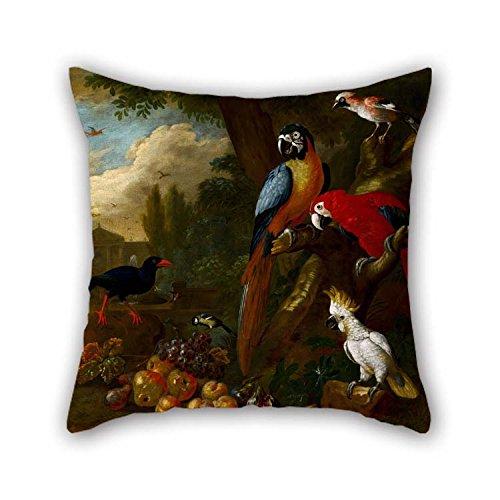 Amortiguador Casos De Oil Painting Bogd??ni, Jakob - Two Macaws, A Cockatoo And A Jay, Con Fruit Para Chicas Banco De Gril...