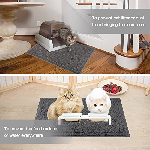 ALTMAN Cat Litter Mat Non-Slip Jumbo Size(38'' x 23'') Kitty Mat, Traps Litter from Box and Paws, Soft on Sensitive Paws and Easy to Clean by ALTMAN (Image #3)