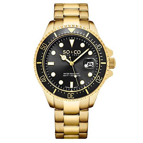 Timer Yacht (SO&CO New York Men's SO&CO New York Men's 5347.6 Yacht Timer Diver Watch, Black Dial Watch)