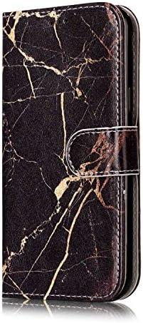 OMATENTI Galaxy J3 2017 ケース, 簡約風 軽量 良質 PU レザー 財布型 カバー ケース, 人気カバー 衝撃吸収 液晶保護, カード収納 横置きスタンド機能付き マグネット Galaxy J3 2017 用 Case Cover, 黒