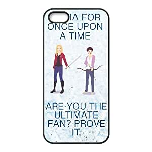 Protection Cover iPhone 5, 5S Cell Phone Case Black Ijoka Once upon a time Personalized Durable Cases