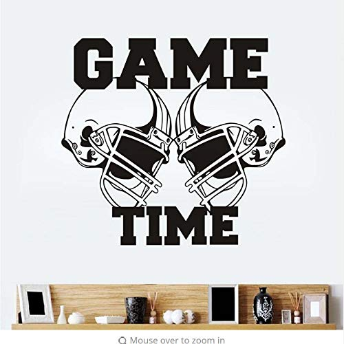 LSFHB Wall Decal Vinyl Sticker Gym Sport Rugby American Football Game Time Decor Kids Room Wall Stickers 62X57Cm ()