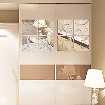 Onemtoss Spiegel Deko Wandspiegel Quadratisch Spiegel 30cm X 30cm