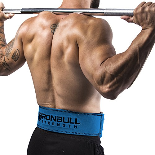 Iron Bull Strength Powerlifting Belt - 10mm Double Prong - 4-inch Wide - Heavy Duty for Extreme Weight Lifting Belt (Blue, Medium) by Iron Bull Strength (Image #4)