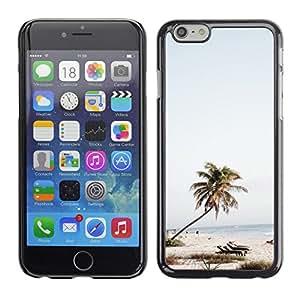 For Apple iPhone 6 Plus(5.5 inches)Case , Tree Beach Chairs Sea Blue Sky - Diseño Patrón Teléfono Caso Cubierta Case Bumper Duro Protección Case Cover Funda