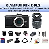 Olympus E-p2 Pen Digital Camera w/ 14-42mm Zuiko Lens (Includes Manufacturer's Supplied Accessories) + SSE PRO Shooter Deluxe Carrying Case, Batteries, Lens, Flash and Tripod Complete Accessories Package