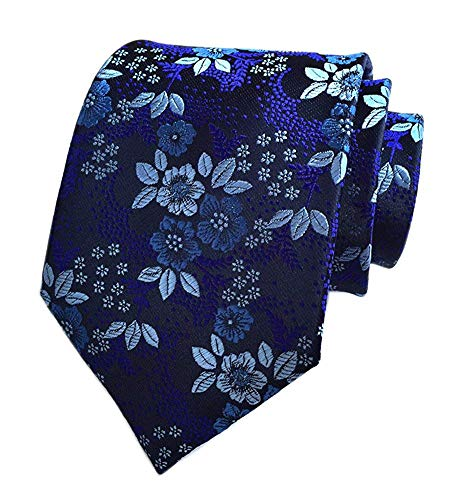- Salt&Seas Mens Tie Cravat Jacquard Luxury Small Floral Pattern Wedding Necktie
