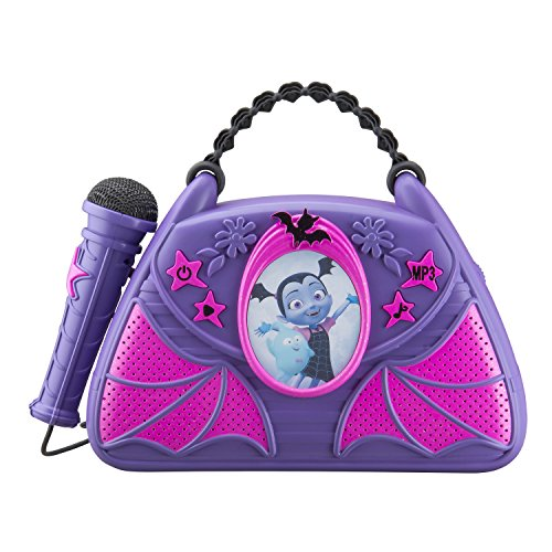Vampirina Sing Along Boombox with Real Working Microphone Built in Music and Can Connect to MP3 Player for Halloween]()