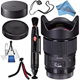 Sigma 20mm f/1.4 DG HSM Art Lens for Canon EF #412954 + Lens Pen Cleaner + Fibercloth + Deluxe Cleaning Kit + Lens Capkeeper + Flexible Tripod Bundle